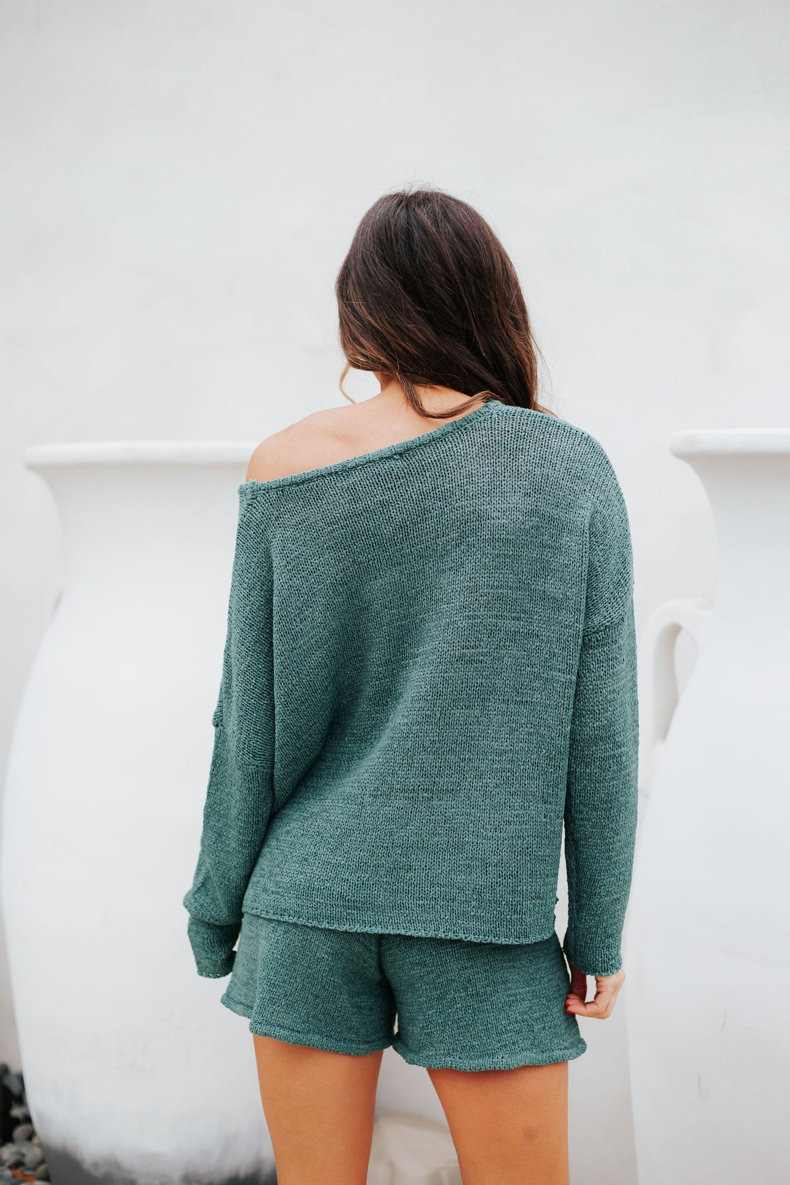 Staying In Sweater Hunter Green