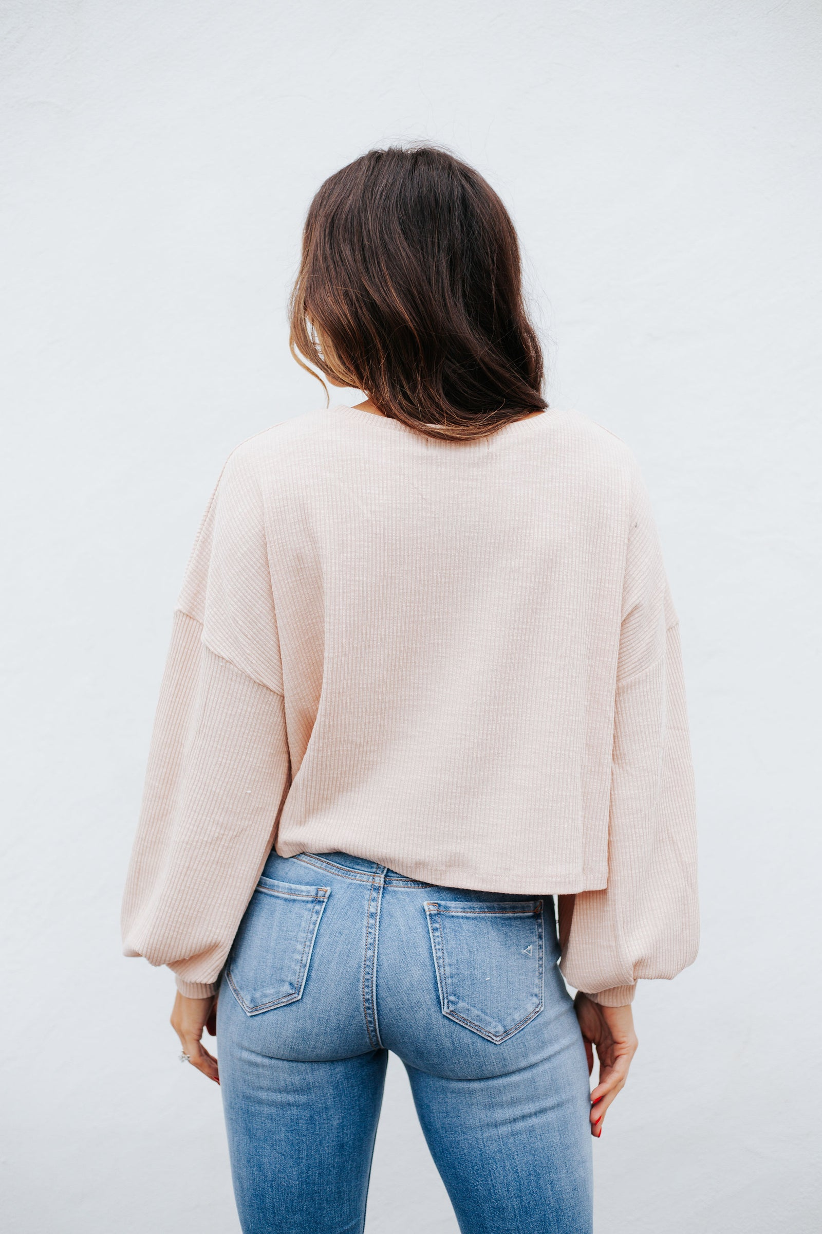 Playful Crop Sweater Taupe
