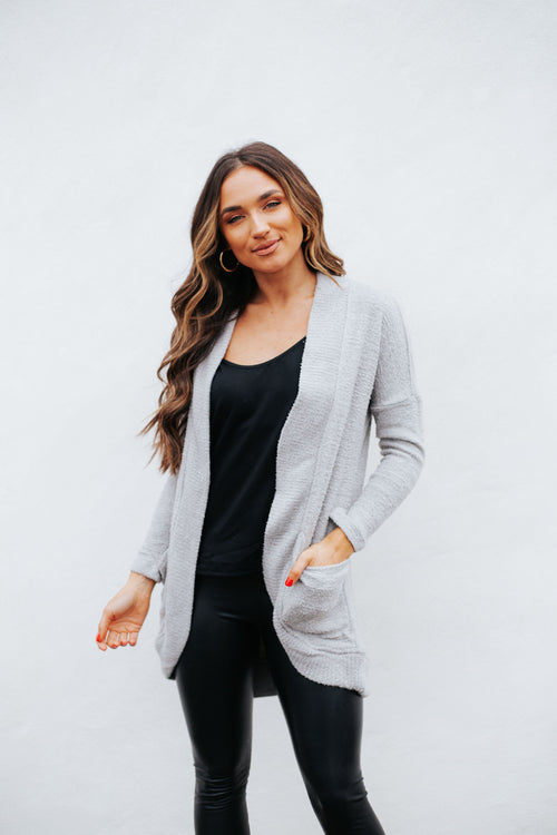 Kaye Feather Cardigan Heather Grey