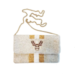 Bee and Line Clutch-White
