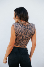 Fonda Crop Top Brown