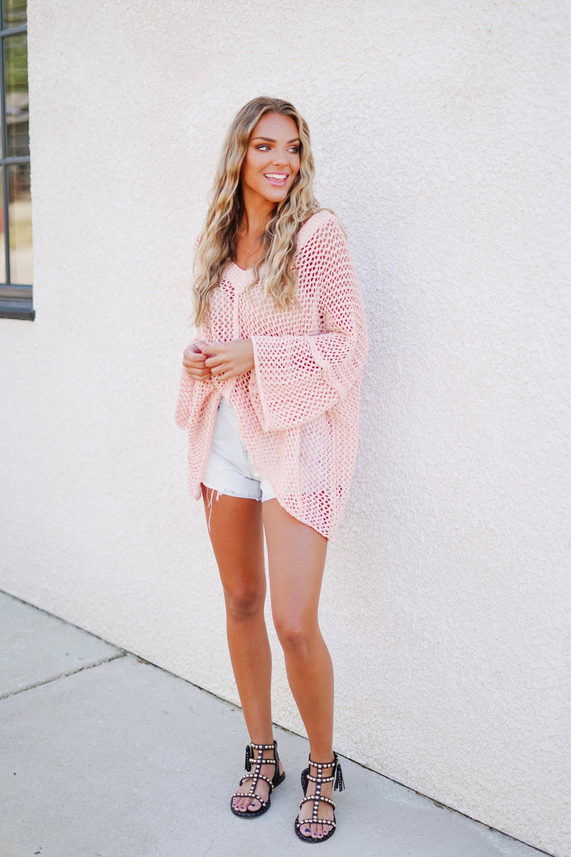 Carmen Sweater- Pink