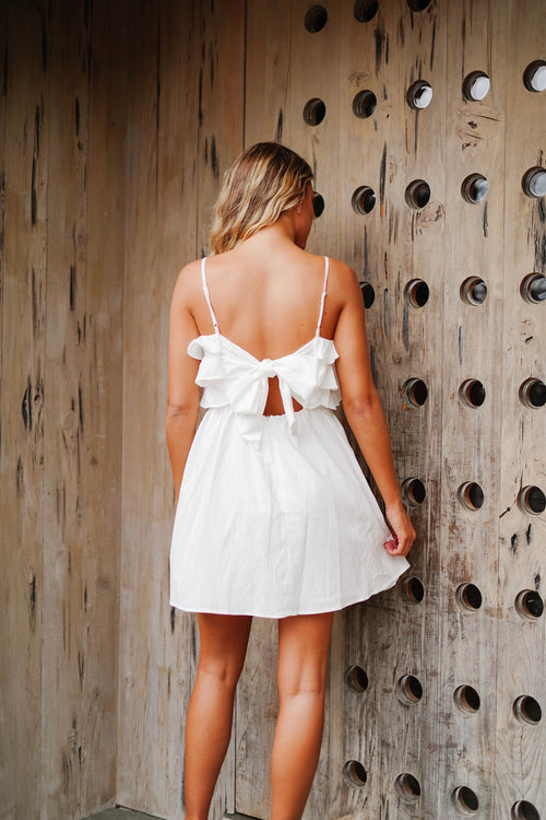 Summer Nights Mini Dress- White