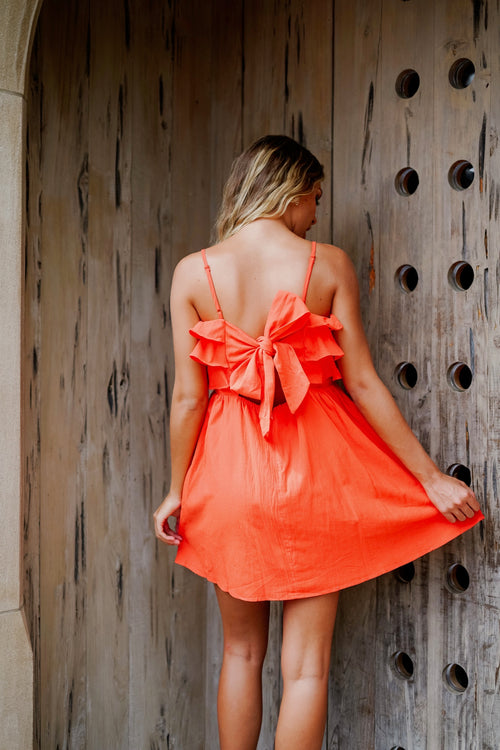 Summer Nights Mini Dress- Orange
