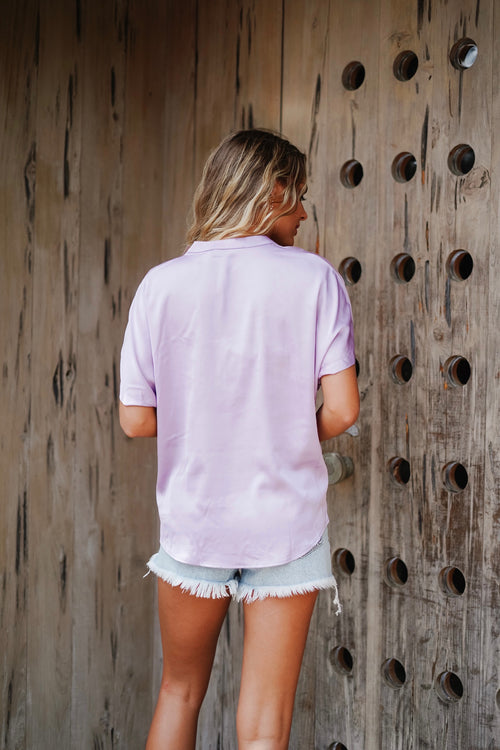 Kate V-Neck Top- Lavender