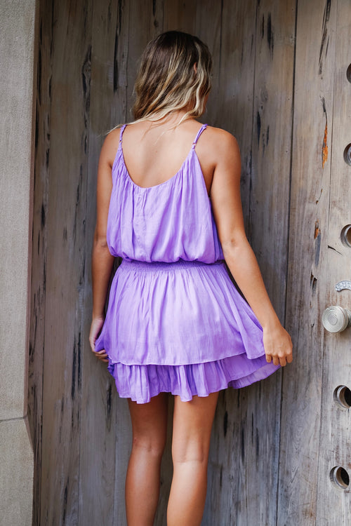 Winnie Smocked Dress - Violet
