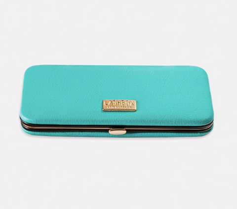 LBLA - TEAL FAUX LEATHER MAGNETIC TWEEZER CASE
