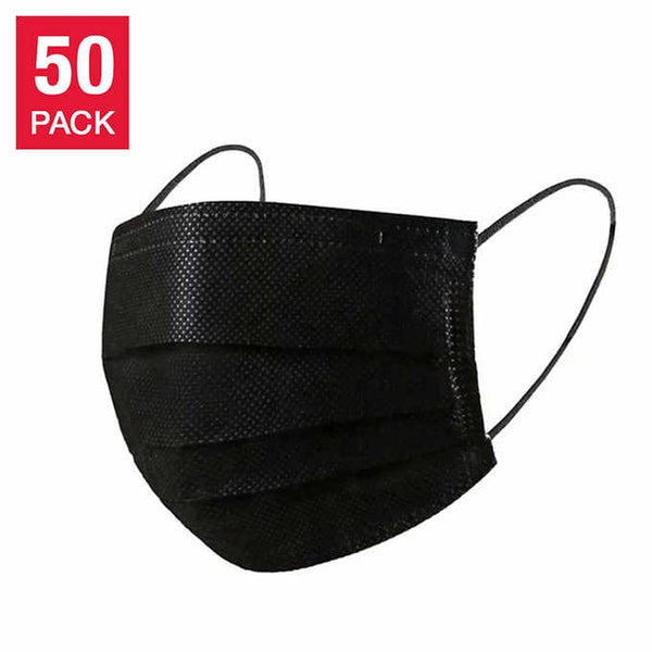 MedSup Canada - Black Disposable 3 Layer Mask