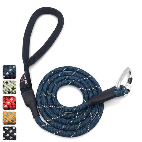 climbing rope dog leash with carabiner