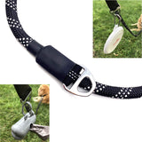 Enthusiast Gear Climbing Rope Dog Seat Belt Leash with Locking Carabiner for Large and Medium Breeds