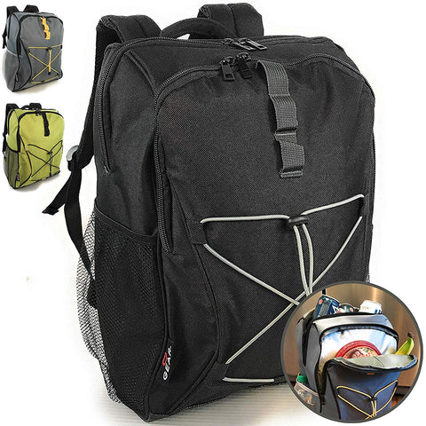 Enthusiast Gear Soft Lunch Backpack Cooler | Insulated Leakproof Lightweight Back Pack Bag for Hiking, Picnics, Beach, Beer, or Day Trips - 20 Cans