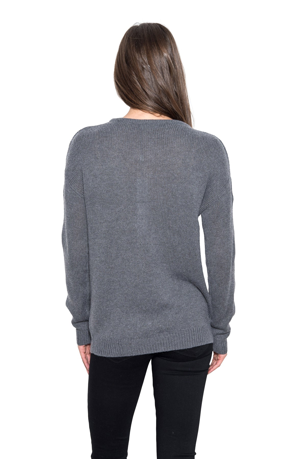 Cameron - Slit Sleeve Pullover [Grey]