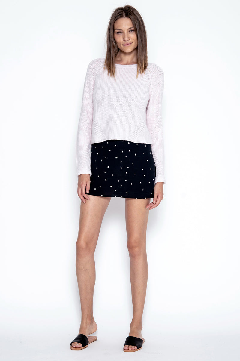 Neely Crop Pullover - Peony