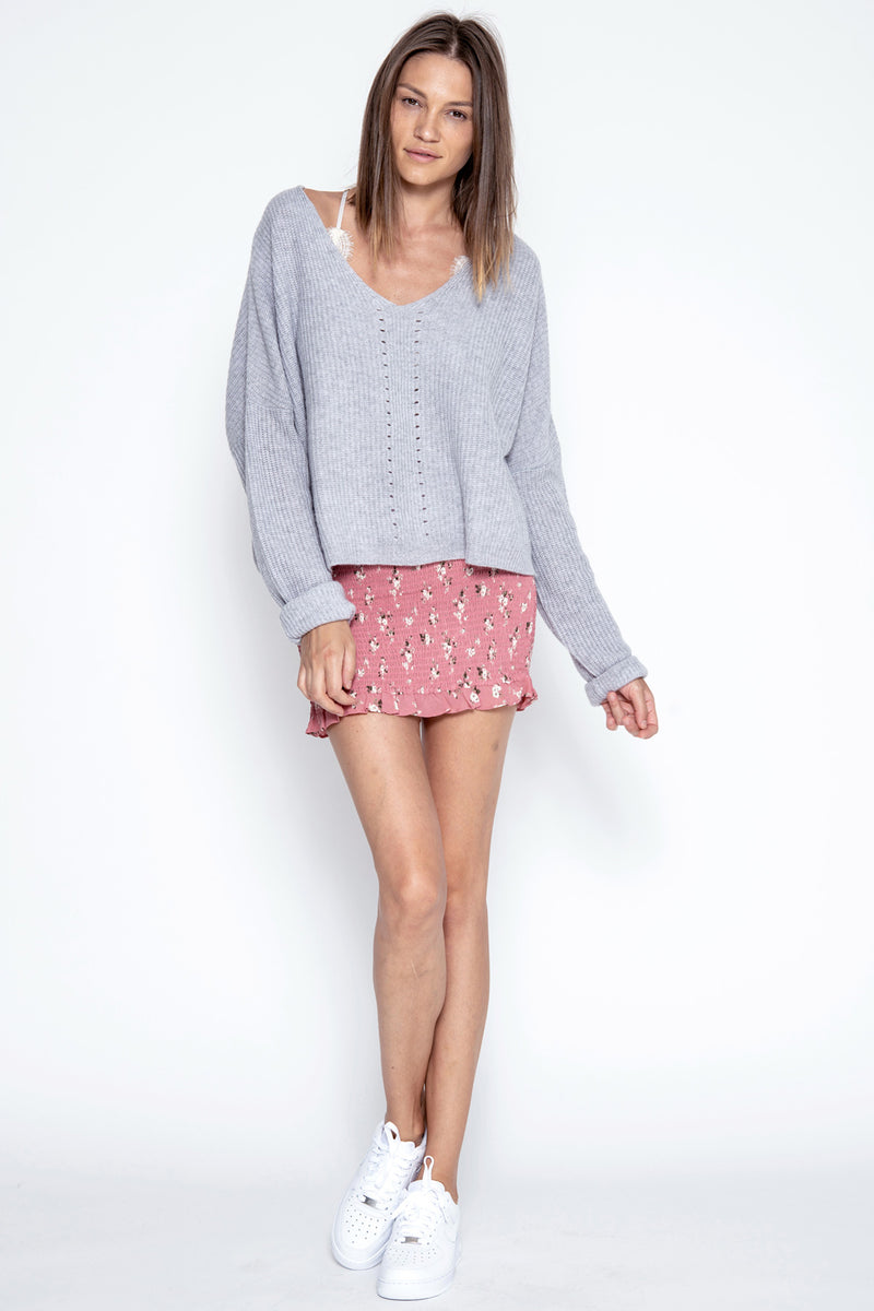 Paxton Cashmere Pullover - Heather Grey