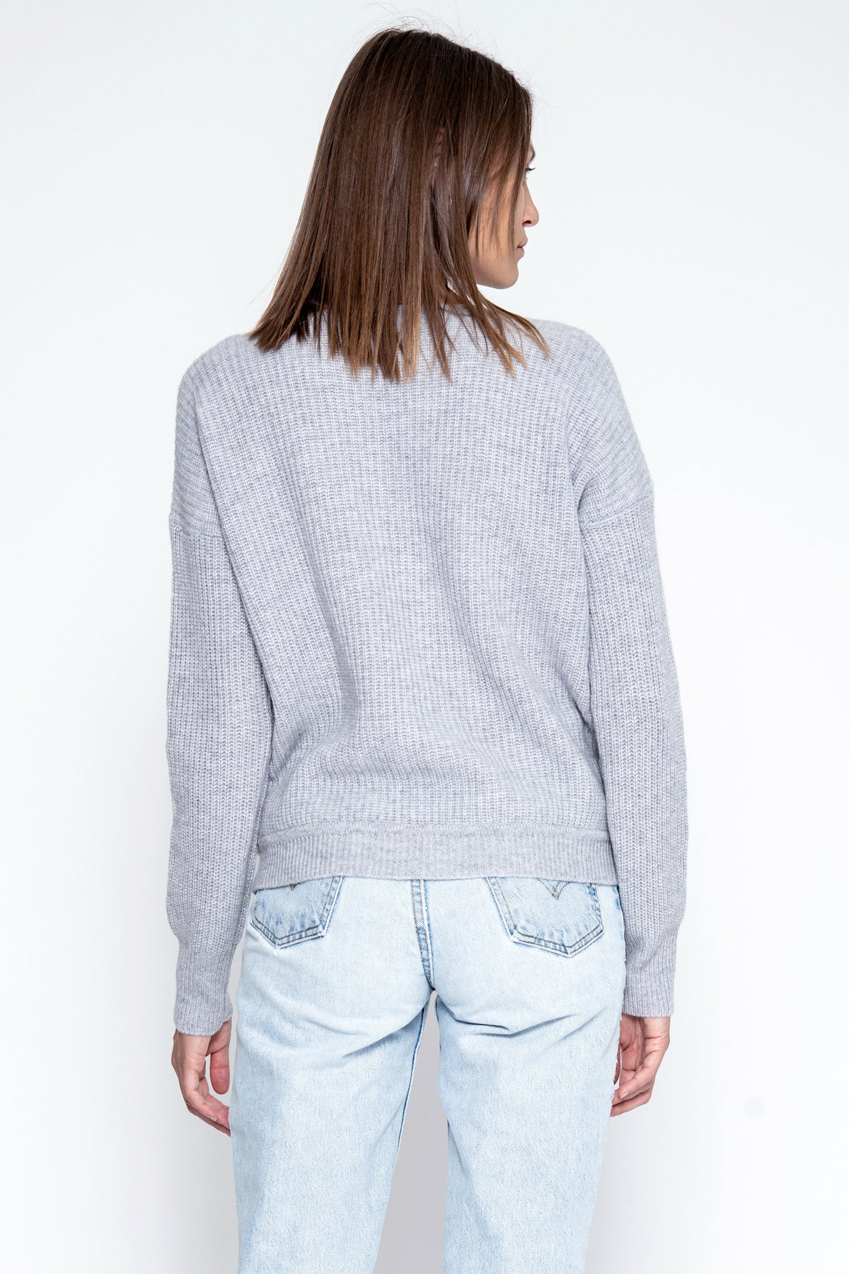 Margot Cashmere Pullover - Heather Grey