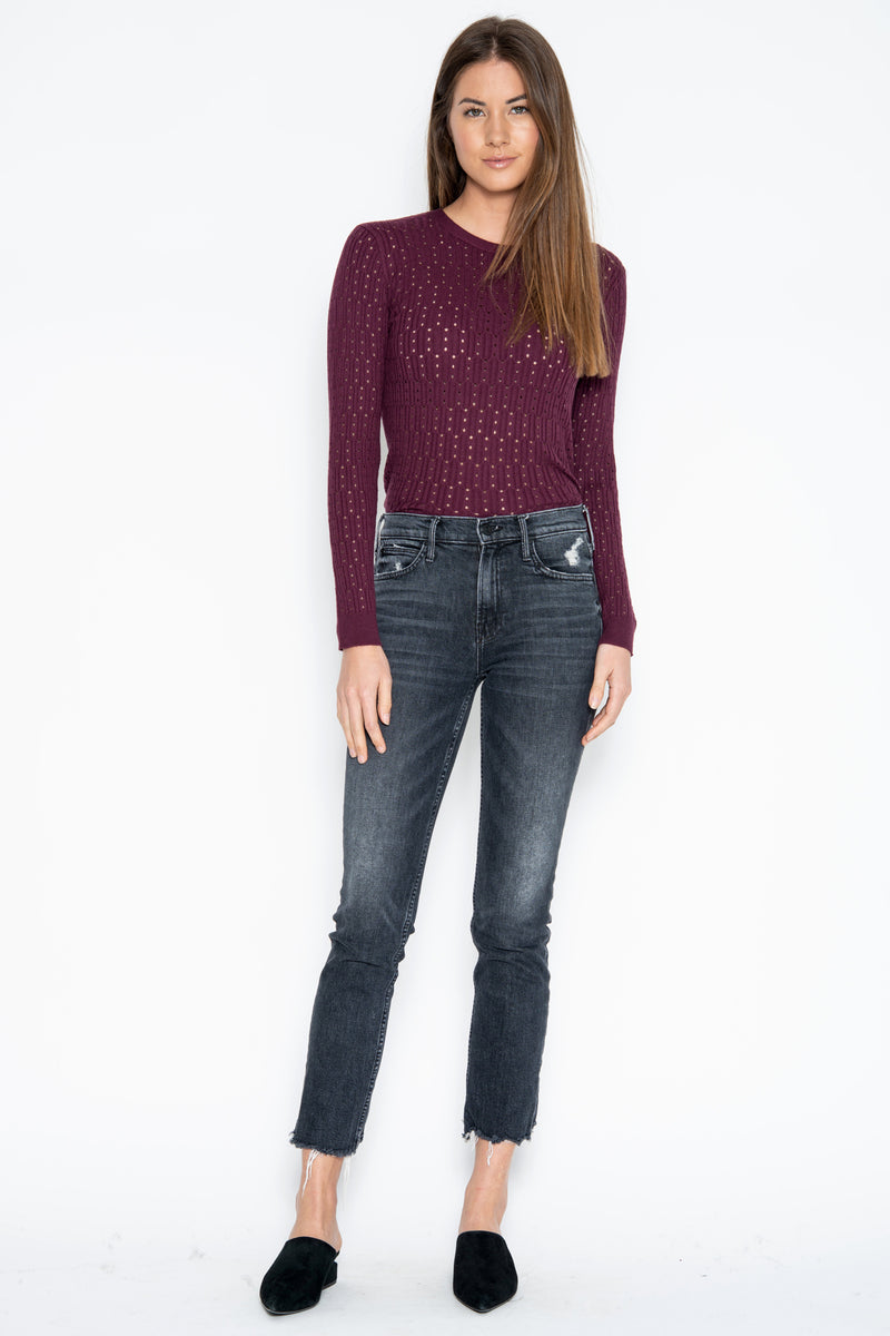 Sabrina L/S Top - Berry