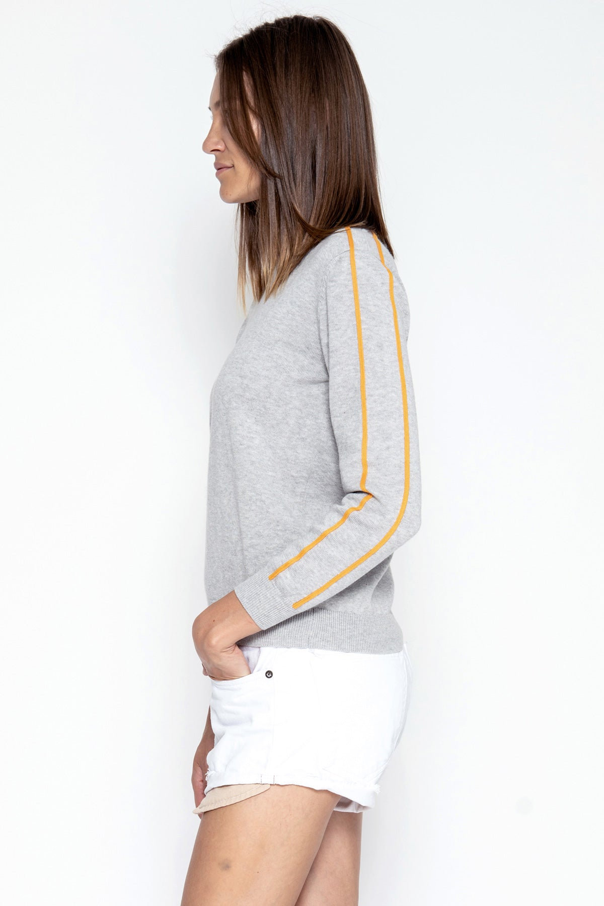 Cole Pullover - Heather/Marigold