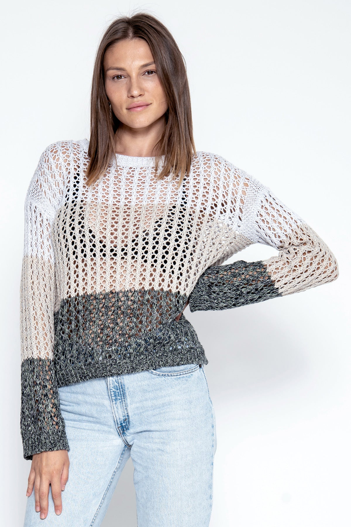 Aria Pullover - Marble Combo