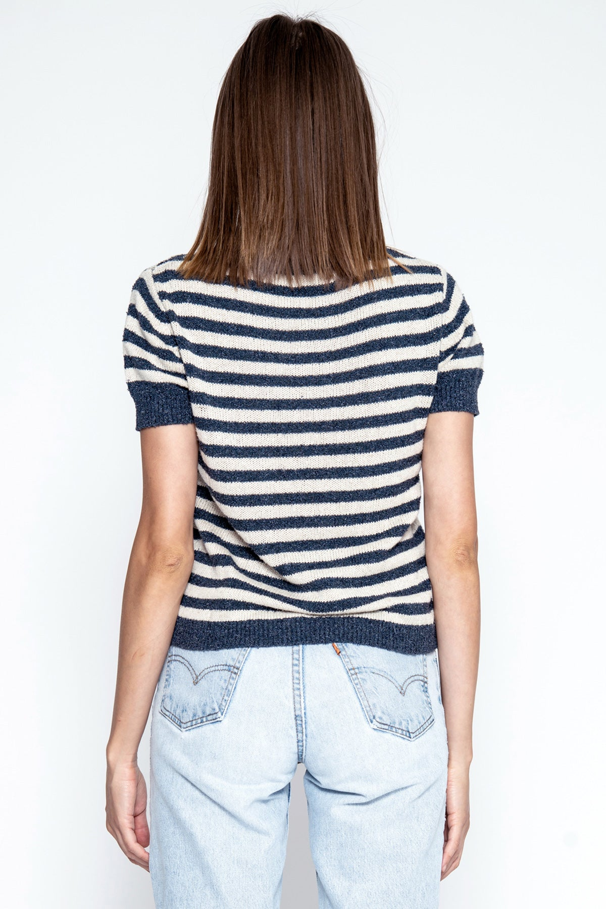 Emerson S/S Tee - Natural/Sailor