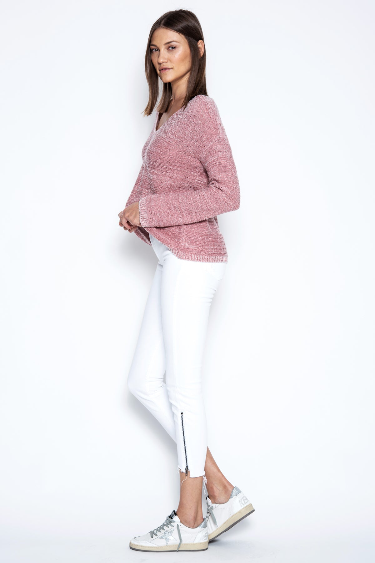 Lainey Pullover - Rose Combo