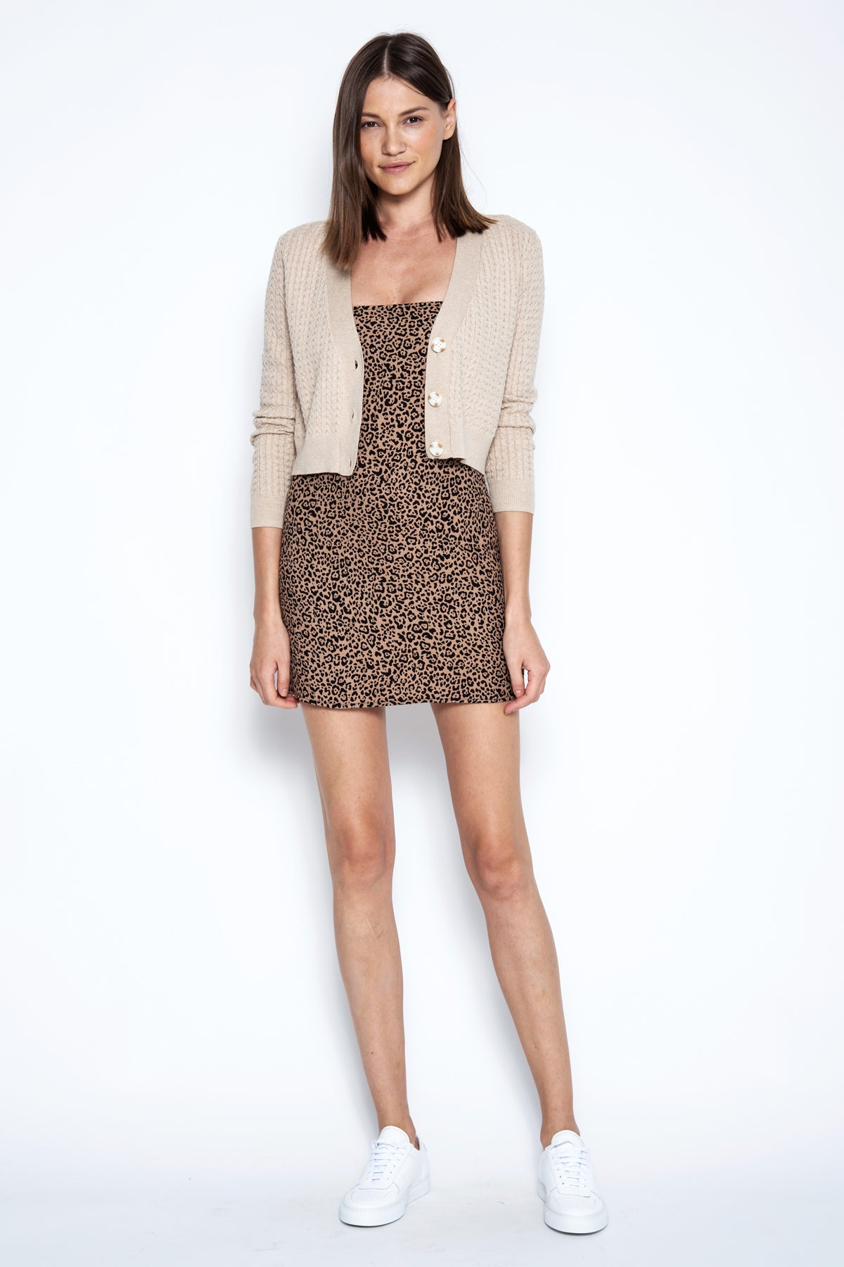 Maxwell Cropped Cardi - Sand