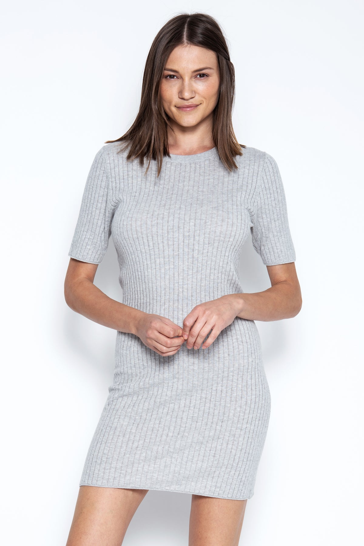 Collins S/S Dress - Heather Grey