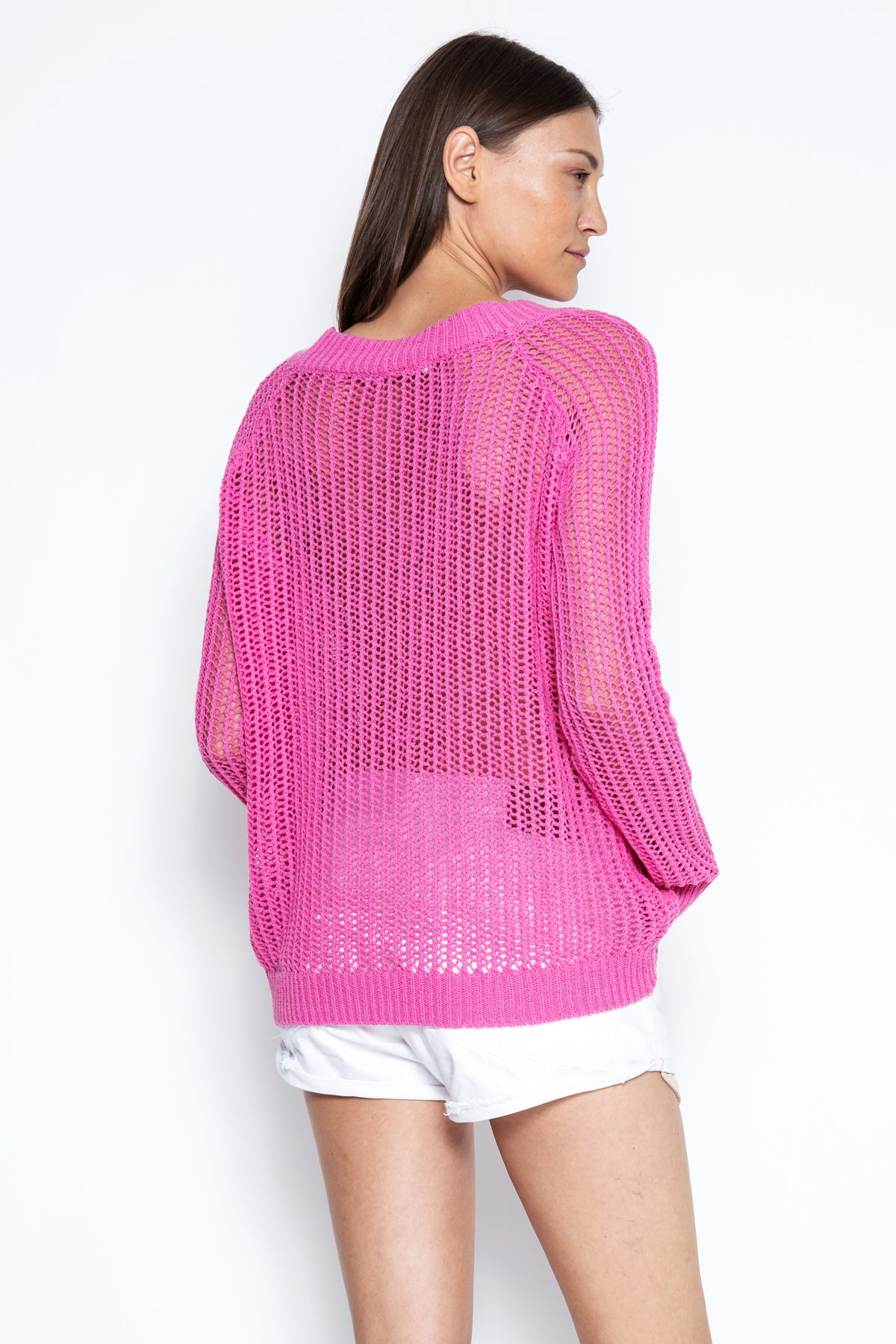 Bryant Open Knit Pullover - Neon