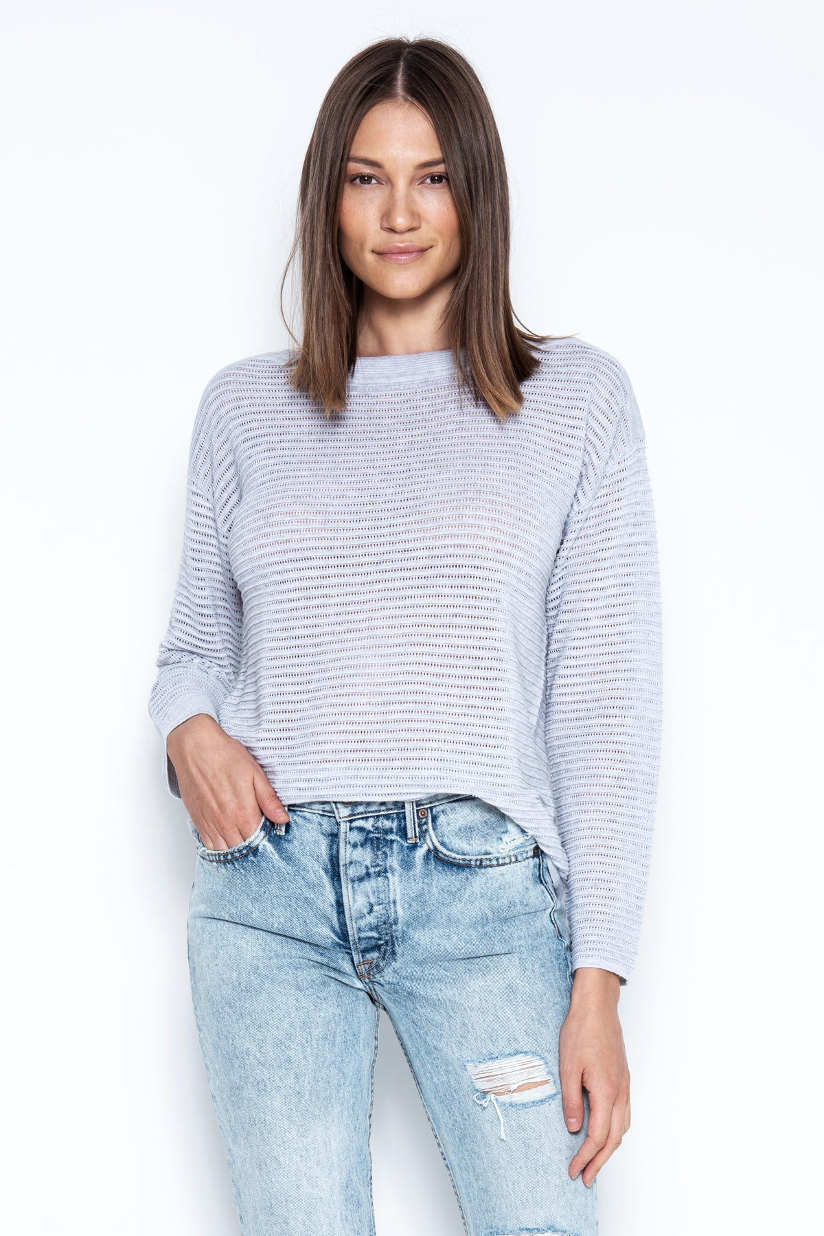Kaia Pullover - Heather Grey