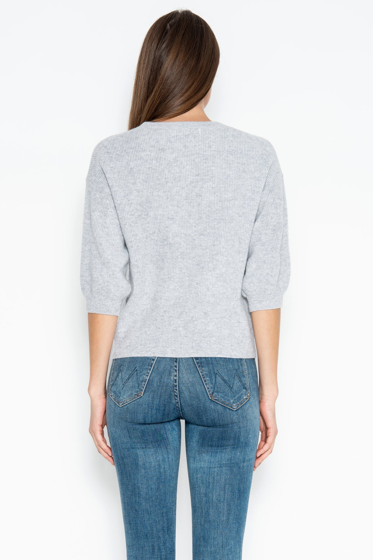 Haven 3/4 Cashmere Pullover - Heather Grey