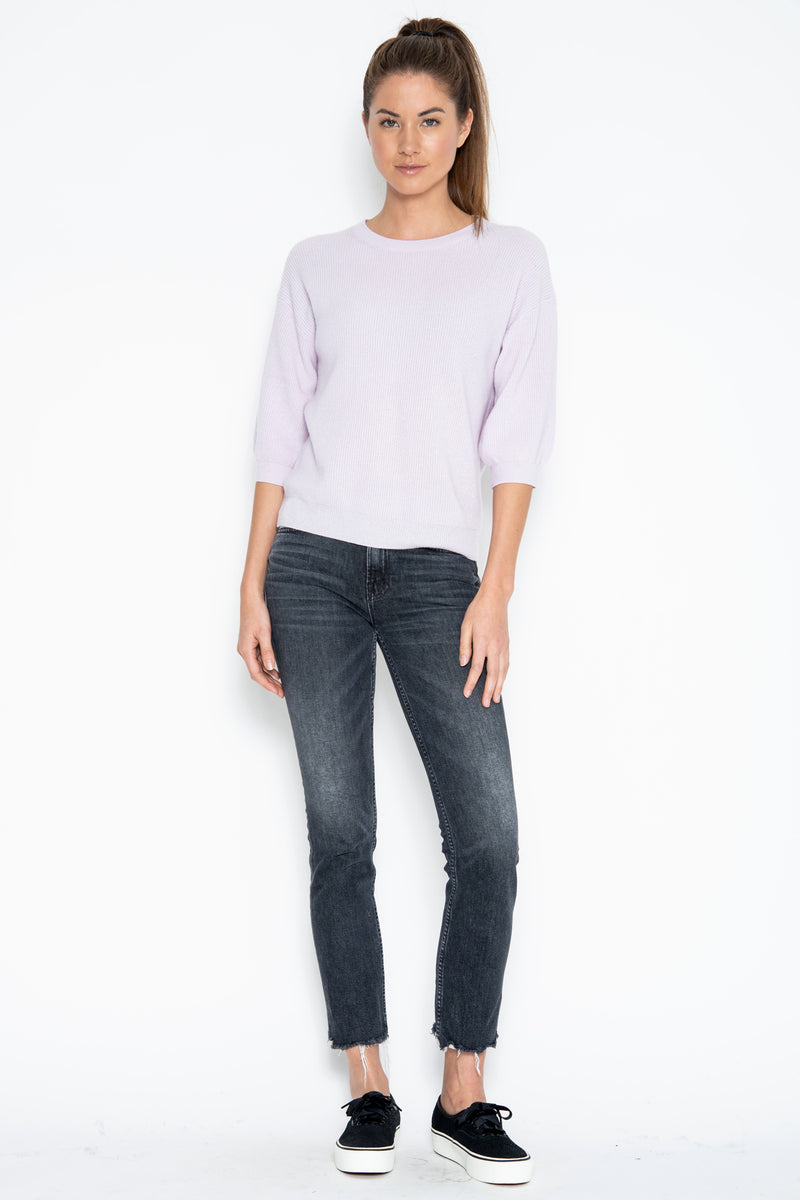 Haven 3/4 Cashmere Pullover - Oyster