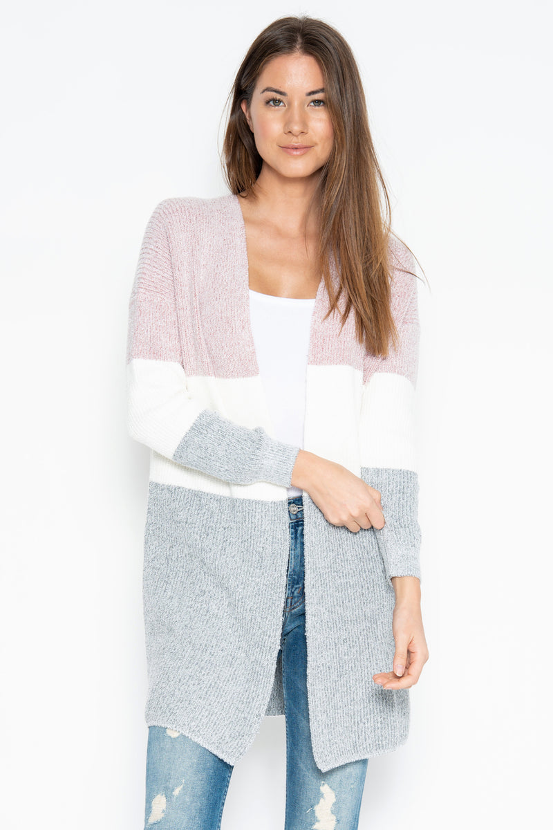 Fauna Cardigan - Oyster Combo