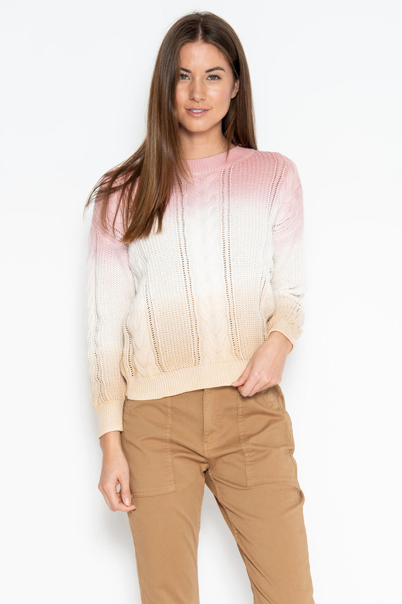 Yara Ombre Pullover - Rose Combo