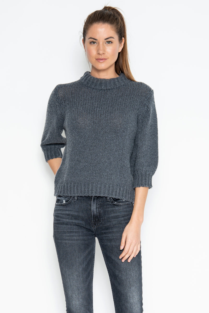 Milly 3/4 Pullover - Charcoal