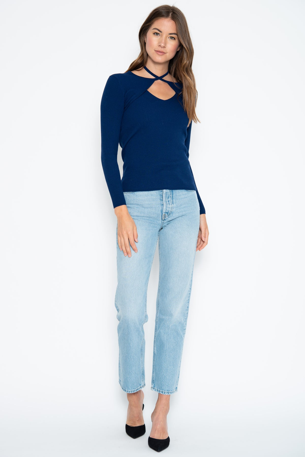 Ellie Tie Top - Dark Denim
