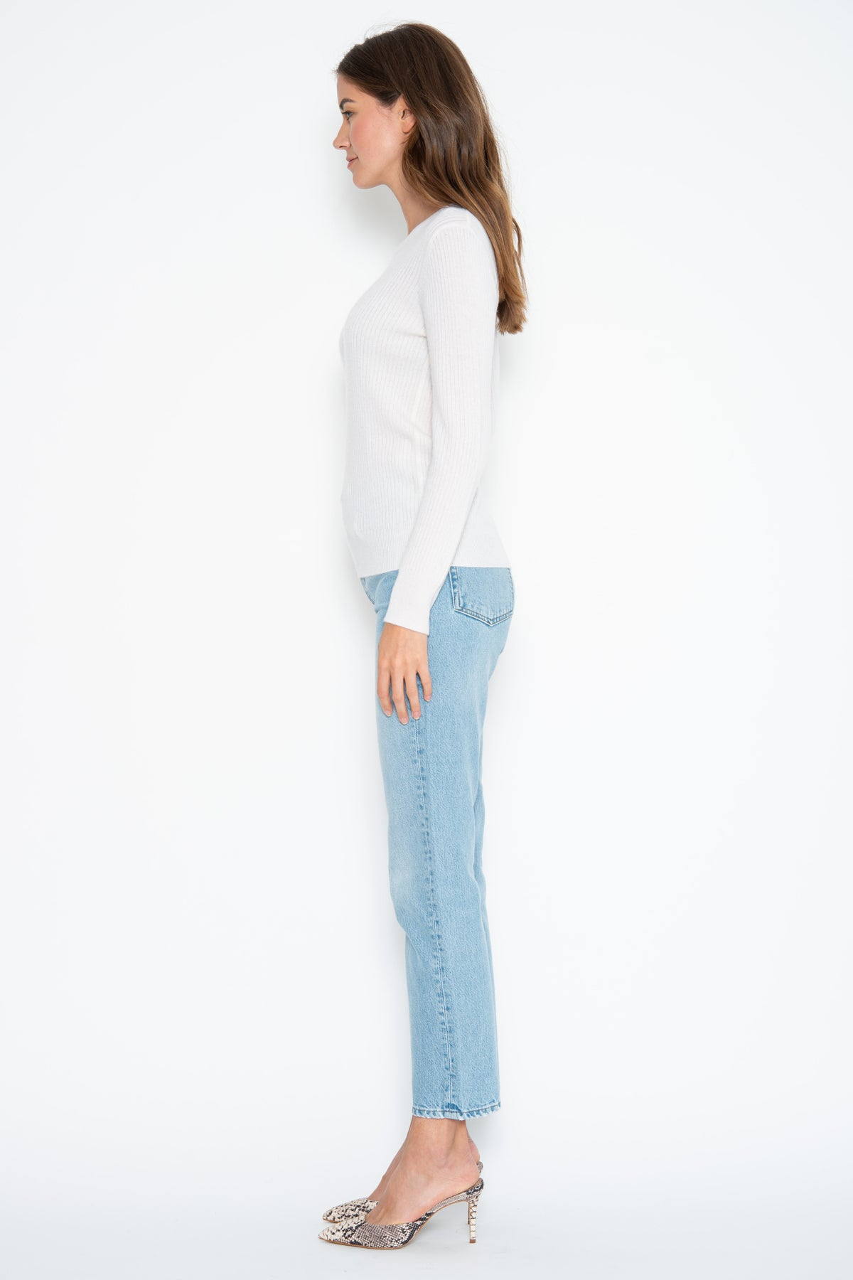 Tenley L/S Cashmere Pullover - Ivory