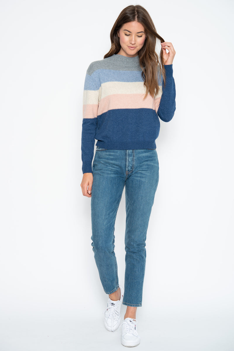 Kylie Pullover - Denim Combo