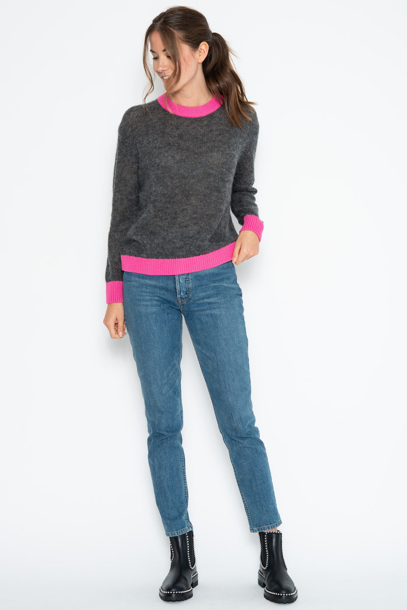 Wesley Pullover - Charcoal/Pink Shock Combo