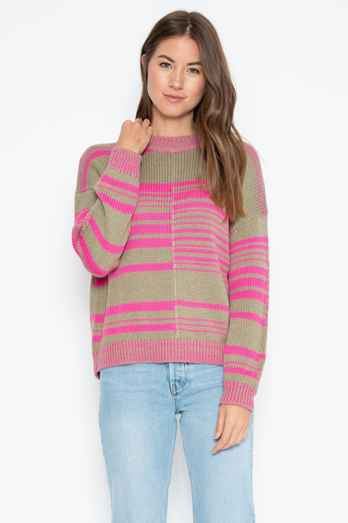 Aidan Pullover - Camp/Pink Shock Combo