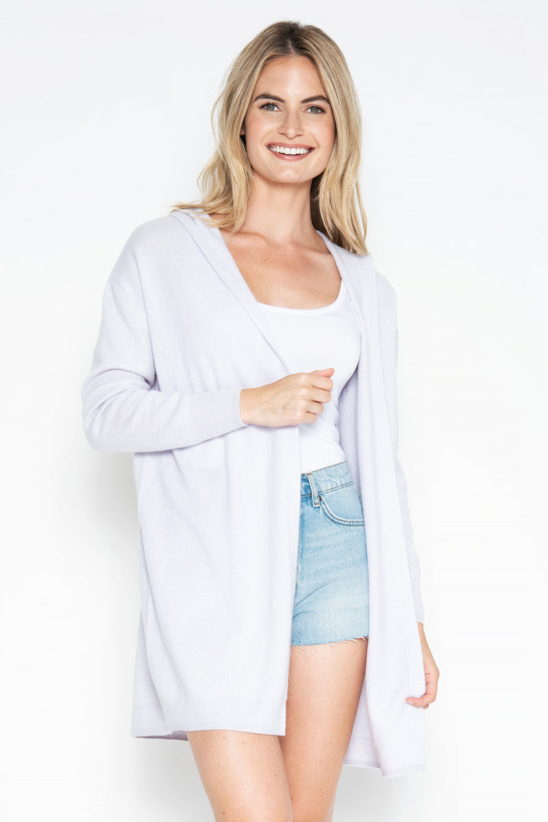 Maya Cashmere Duster - Lilac