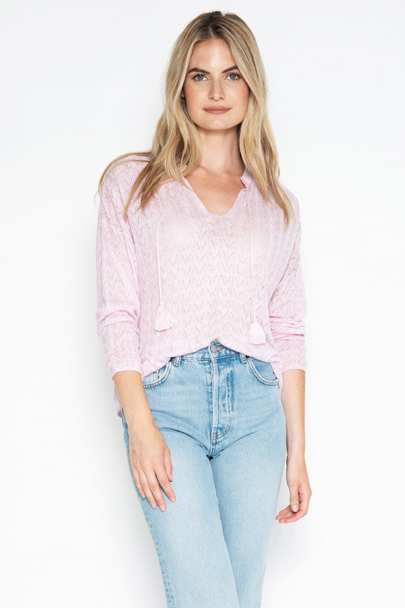 Kass L/S Peasant Top - Blossom