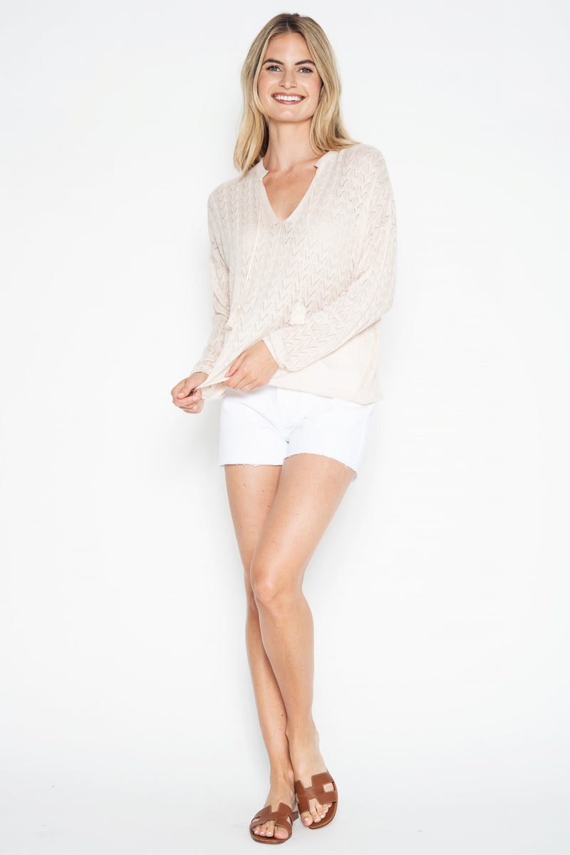 Kass L/S Peasant Top - Calico