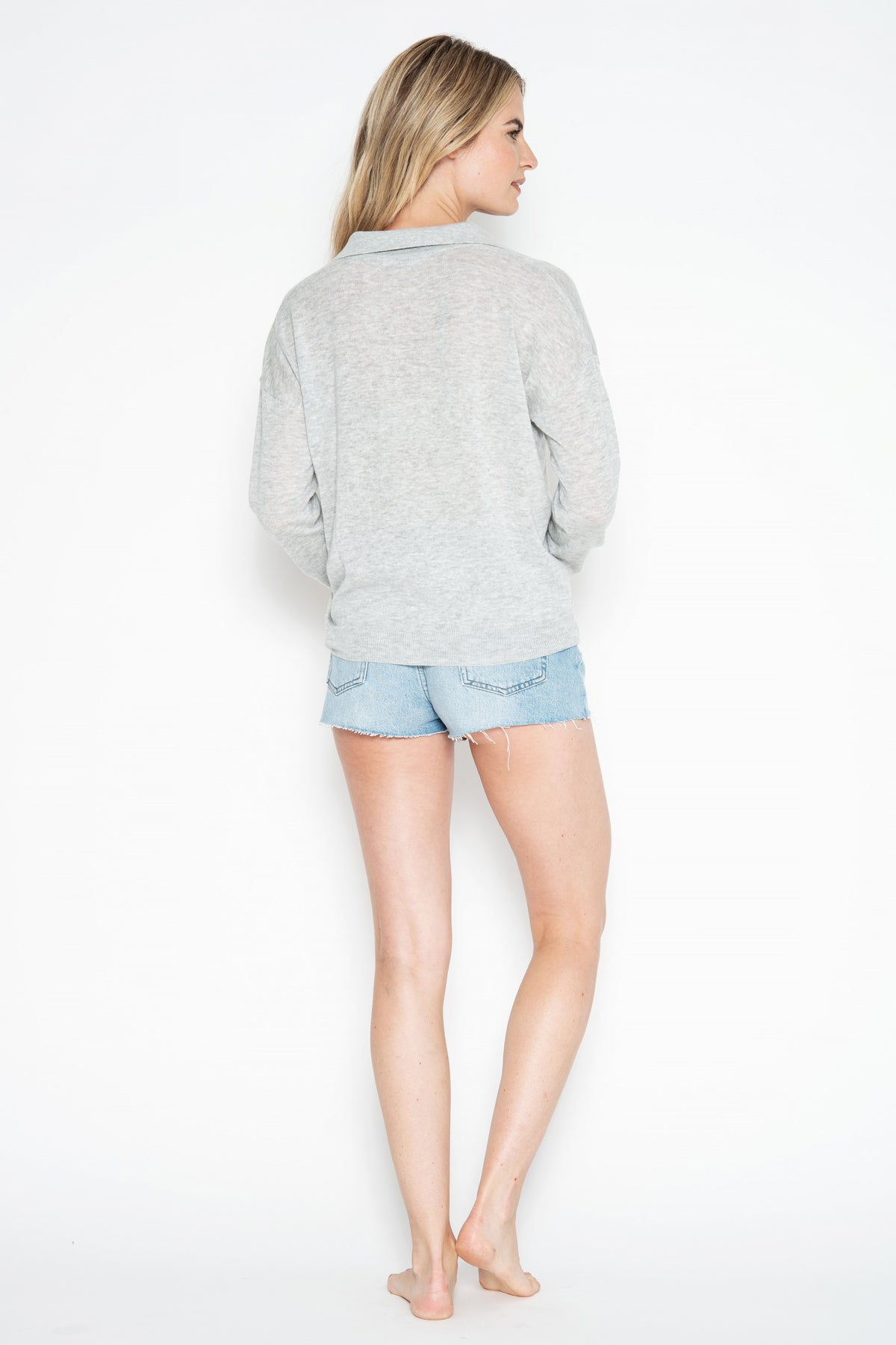 Aerin L/S Pullover - Silver Shadow