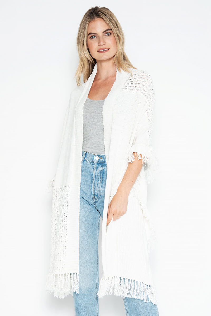 Harper Beach Wrap - White