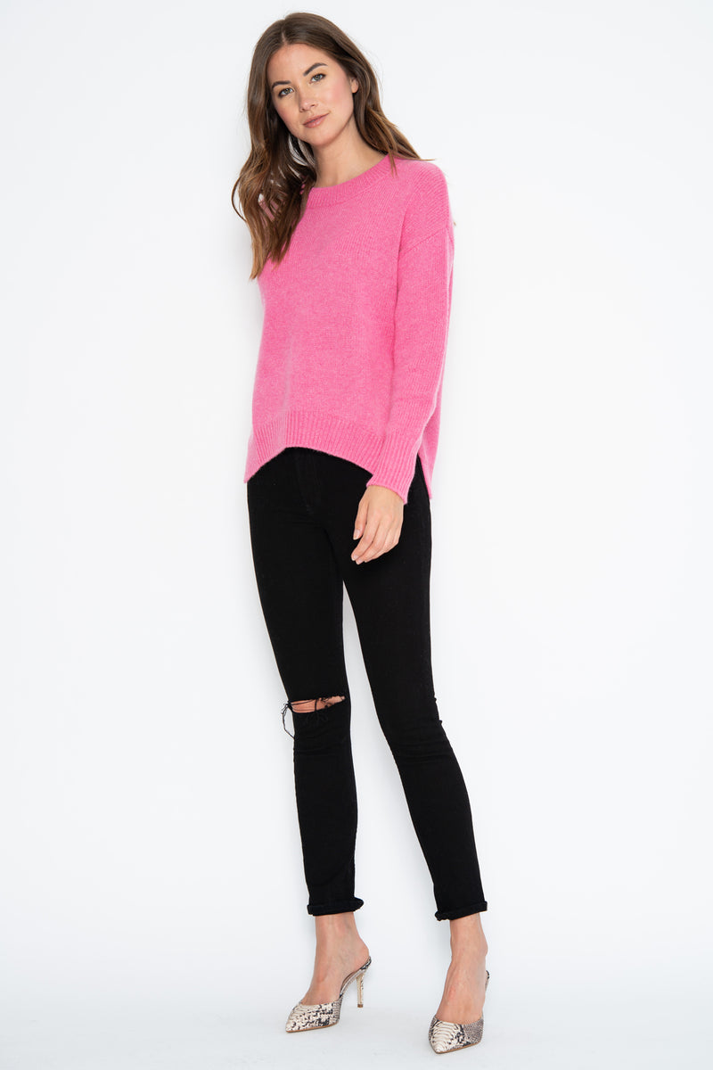 Lyle Cashmere Pullover - Pink Shock