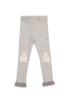 Patch Legging - Heather Grey