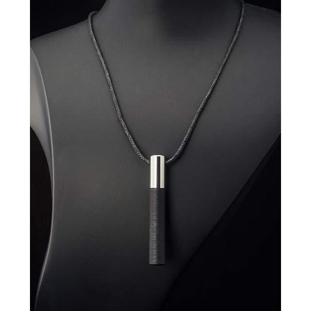 Lockstone One Steel Pendant & Black Stone - Tittup Unique Aromatherapy & Jewellery