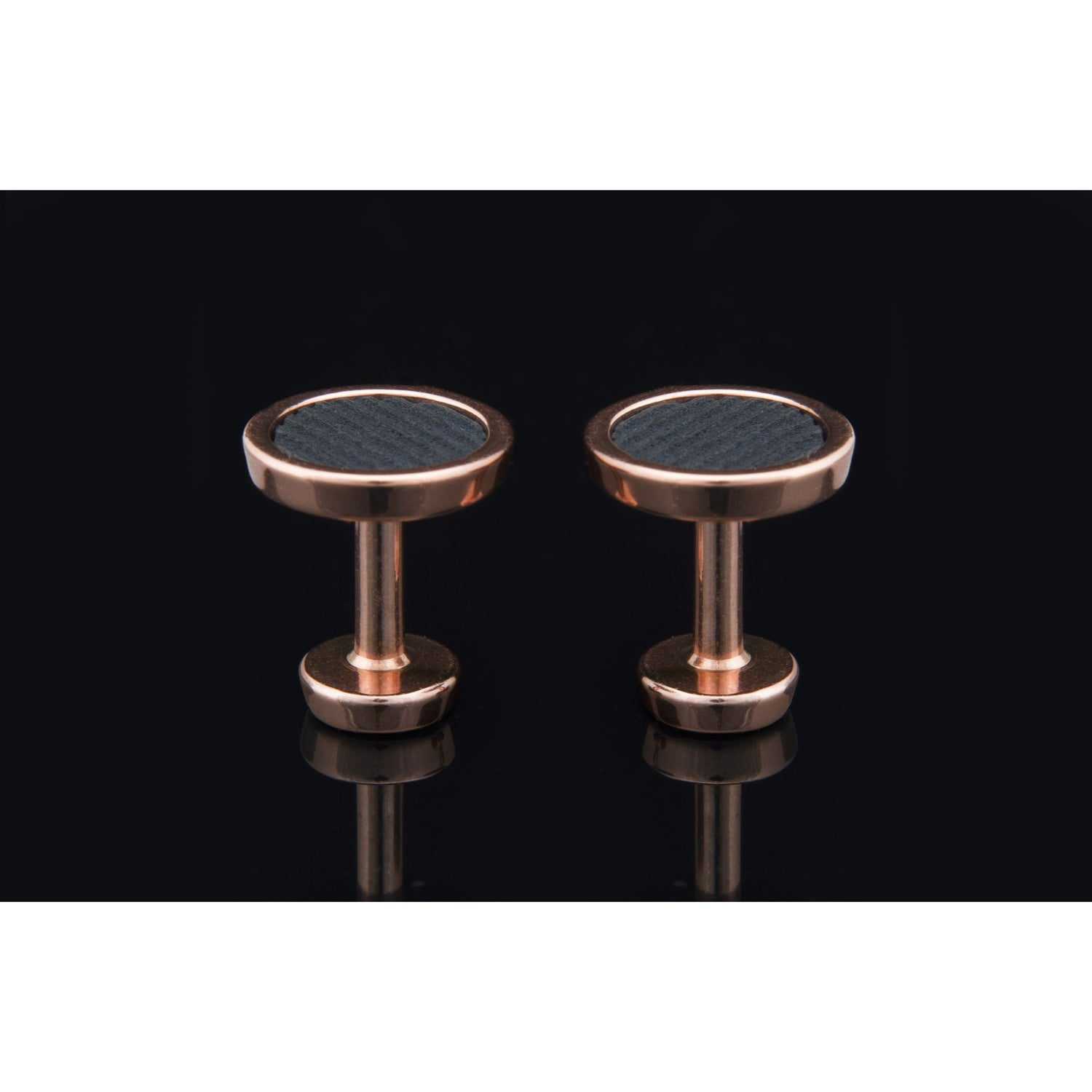 Lockstone One Range Rose Gold Cufflinks - Tittup Unique Aromatherapy & Jewellery