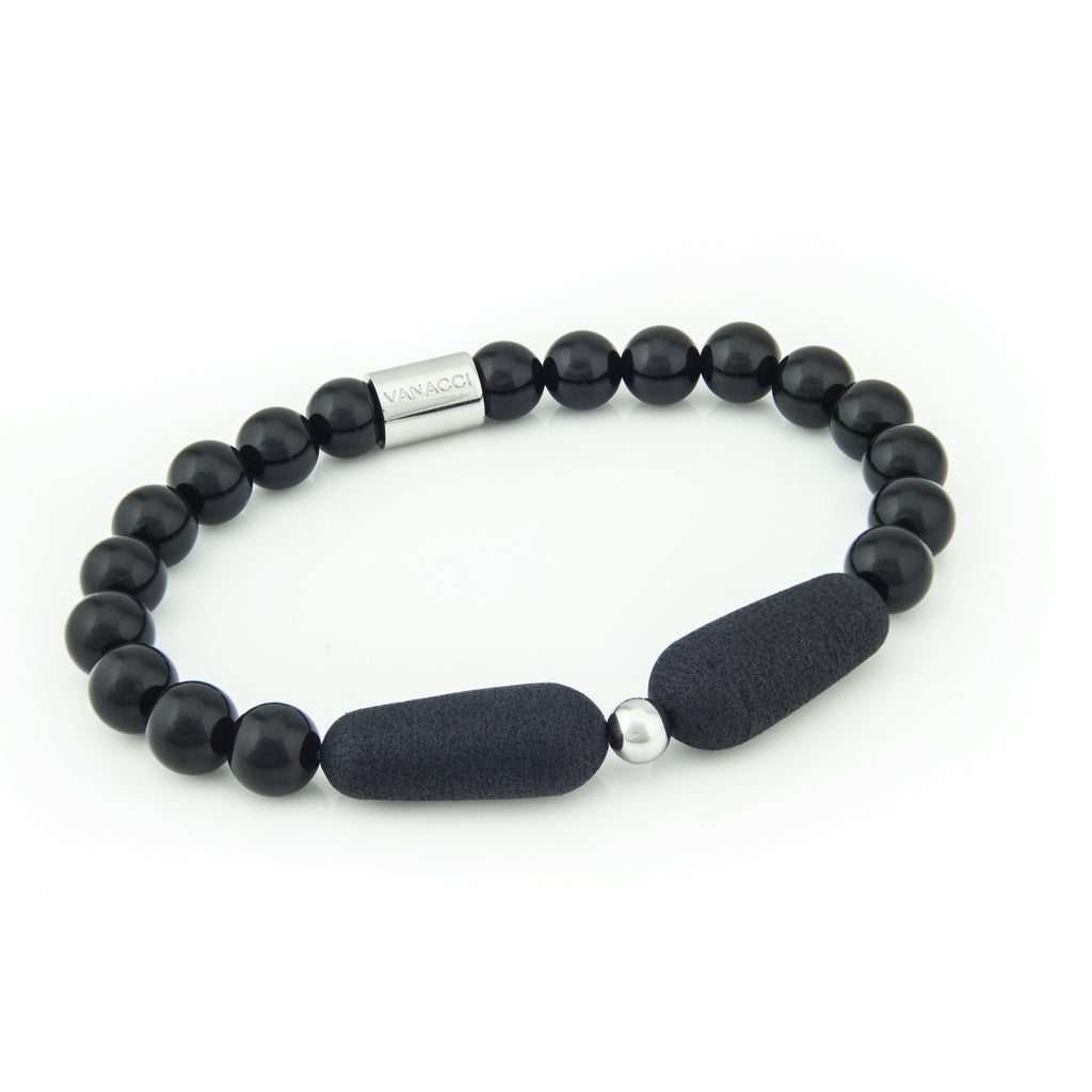 Lockstone One Range Black Pearl Bracelet - Tittup Unique Aromatherapy & Jewellery