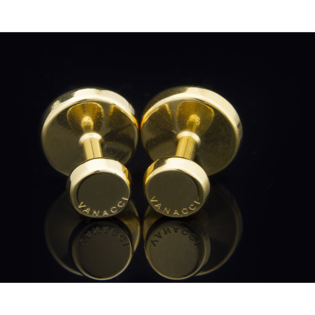 Lockstone One Range Gold Plated Cufflinks - Tittup Unique Aromatherapy & Jewellery