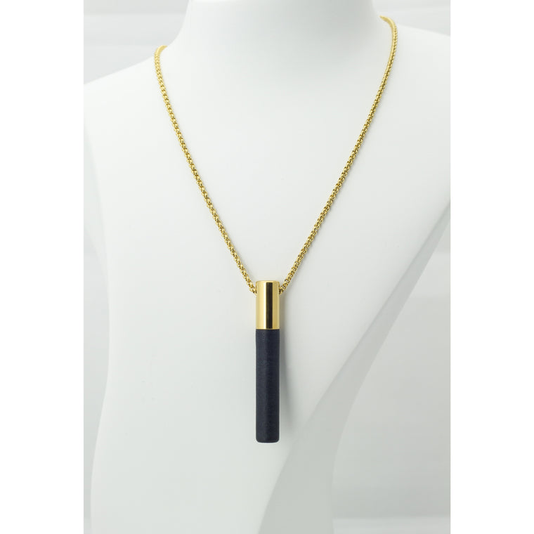 Lockstone Plus Gold Pendant & Three Black Stones - Tittup Unique Aromatherapy & Jewellery